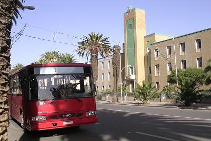 Bus stop near Asmara - December 2000