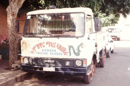 Truck of the Asmara driving school