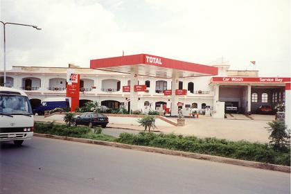 Total fuel station, garage and motel - Road to Mendefera Asmara