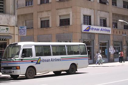 Office of Eritrean Airlines Harnet Avenue Asmara