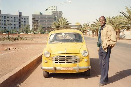 Old Asmara taxi on the Airport Road Asmara