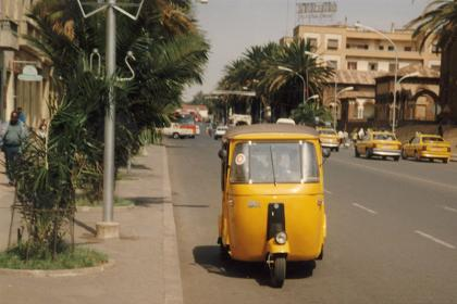 Small Asmara taxi on Harnet Avenue Asmara