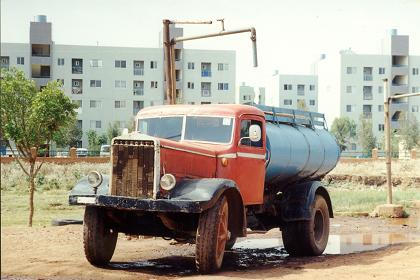 Old Fiat truck near the Sembel Residentional Complex