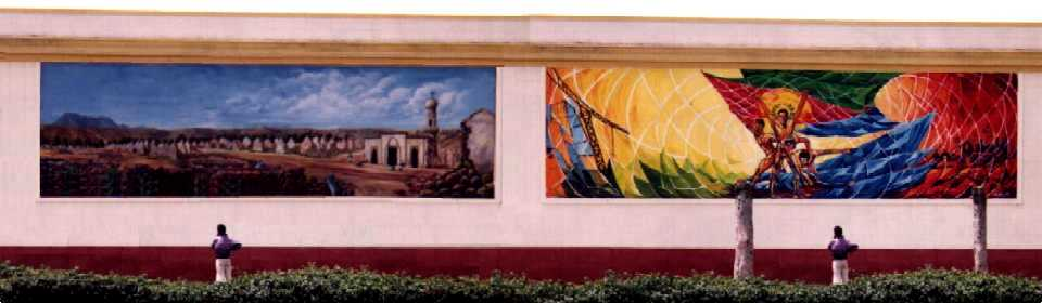 Wall paintings  - Knowledge Street Asmara Eritrea