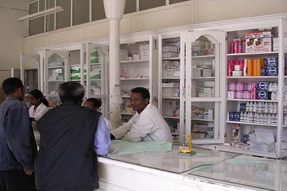 Interior of No 1 pharmacy Asmara (near the post office).