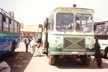 Long distance bus to Mendefera - Edaga Hamus bus station