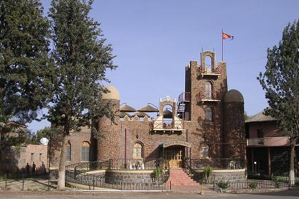 Traditional building at the Asmara Expo grounds