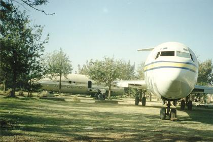 Old airplanes as a childrens playground - Expo site Asmara.