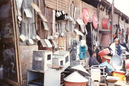 Household utensils at Medeber market Asmera