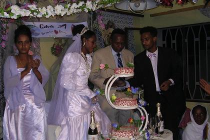 The wedding cake at the wedding in Keren Eritrea.