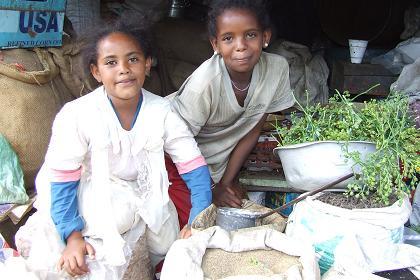 Shopkeeper - Medeber markets Asmara Eritrea.