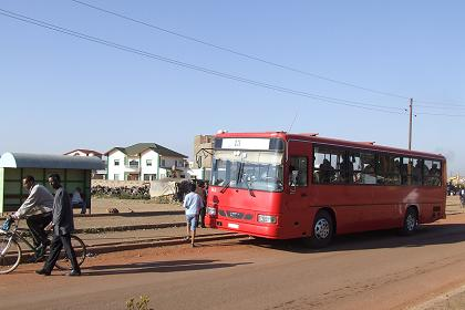 Asmara Eritrea - Public transport   Bus station, Asmara